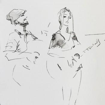 marina berna sketch by aleksey nelipa